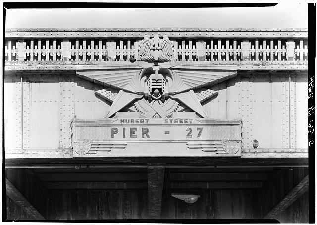 5.  Decoration at Hubert St. - West Side Highway, New York, New York County, NY