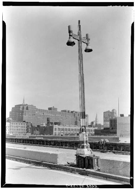 9.  Lamp post near 23rd St. ramp. - West Side Highway, New York, New York County, NY