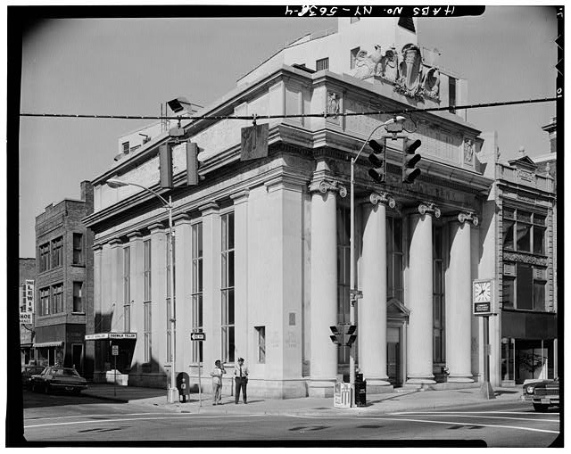 4.  GENERAL VIEW OF WEST SIDE AND SOUTH FRONT - City National Bank, 49 Court Street, Binghamton, Broome County, NY