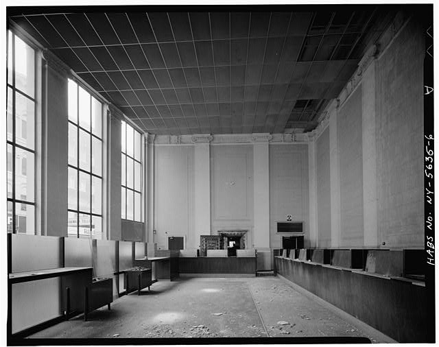 6.  INTERIOR, LOOKING SOUTH - City National Bank, 49 Court Street, Binghamton, Broome County, NY