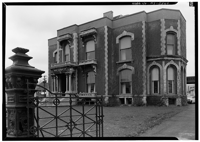 1.  Historic American Buildings Survey, 1966, SOUTH, FRONT, ENTRANCE. - Sherman Phelps House, 191 Court Street, Binghamton, Broome County, NY