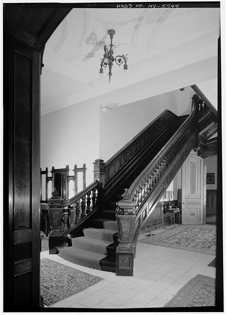 3.  Historic American Buildings Survey, 1966, INTERIOR, MAIN STAIRCASE. - Sherman Phelps House, 191 Court Street, Binghamton, Broome County, NY
