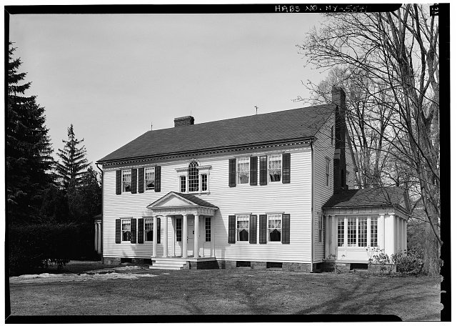 1.  Historic American Buildings Survey, 1963, SOUTH, FRONT, ELEVATION. - Amos Patterson House, 3725 River Road, Endwell, Broome County, NY