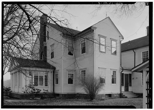 4.  Historic American Buildings Survey, 1963, NORTH, REAR, ELEVATION. - Amos Patterson House, 3725 River Road, Endwell, Broome County, NY