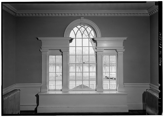 11.  Historic American Buildings Survey, 1963, INTERIOR, DETAIL, PALLADIAN WINDOW. - Amos Patterson House, 3725 River Road, Endwell, Broome County, NY