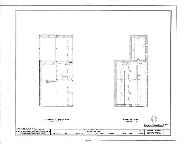 HABS NY,11-HUD,1B- (sheet 2 of 4) - Olana, Barn, State Route 9G, Hudson, Columbia County, NY