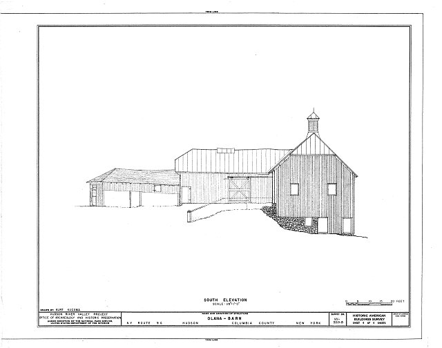 HABS NY,11-HUD,1B- (sheet 4 of 4) - Olana, Barn, State Route 9G, Hudson, Columbia County, NY