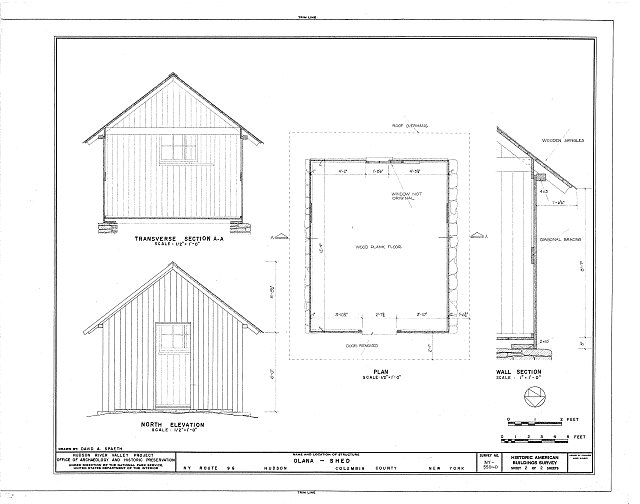 HABS NY,11-HUD,1D- (sheet 2 of 2) - Olana, Shed, State Route 9G, Hudson, Columbia County, NY