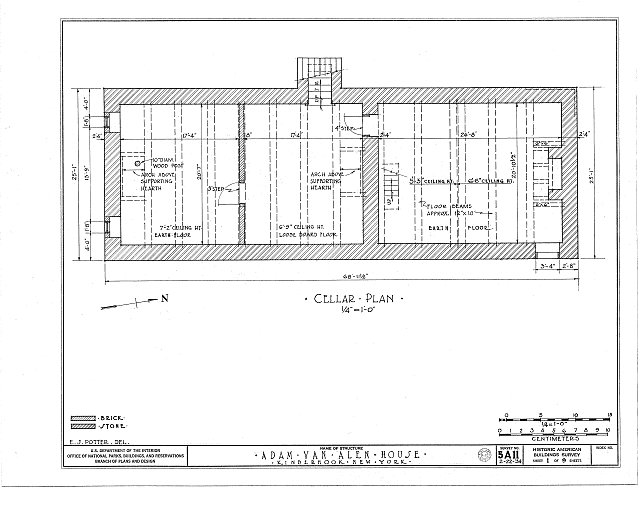 HABS NY,11-KINHO,1- (sheet 1 of 9) - Adam Van Alen House, Kinderhook Creek Vicinity, Kinderhook, Columbia County, NY