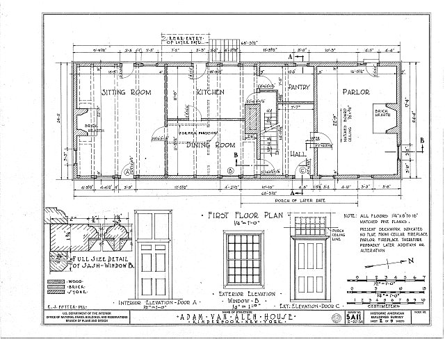 HABS NY,11-KINHO,1- (sheet 2 of 9) - Adam Van Alen House, Kinderhook Creek Vicinity, Kinderhook, Columbia County, NY