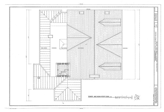HABS NY,11-KINHO.V,1- (sheet 6 of 27) - Lindenwald, 1013 Old Post Road, Kinderhook, Columbia County, NY
