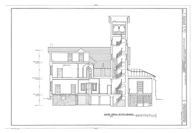 HABS NY,11-KINHO.V,1- (sheet 11 of 27) - Lindenwald, 1013 Old Post Road, Kinderhook, Columbia County, NY