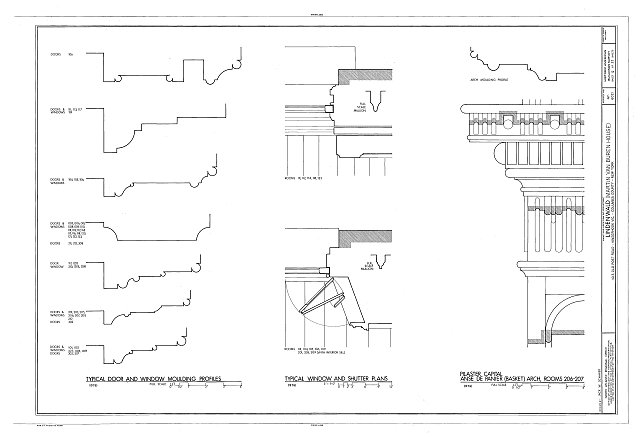 HABS NY,11-KINHO.V,1- (sheet 12 of 27) - Lindenwald, 1013 Old Post Road, Kinderhook, Columbia County, NY