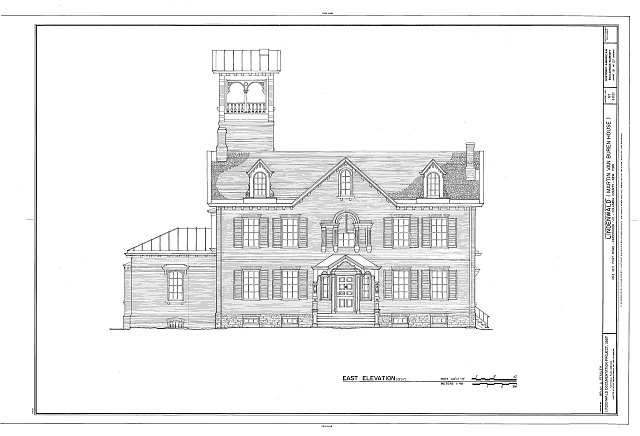 HABS NY,11-KINHO.V,1- (sheet 19 of 27) - Lindenwald, 1013 Old Post Road, Kinderhook, Columbia County, NY
