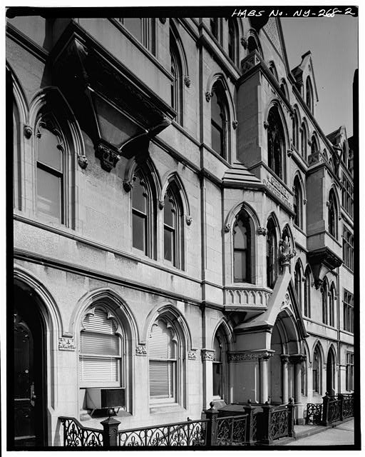 2.  MAIN ELEVATION, DETAIL OF ENTRY AND WINDOWS - Grace Church Houses, Fourth Avenue & Eleventh Street, New York, New York County, NY