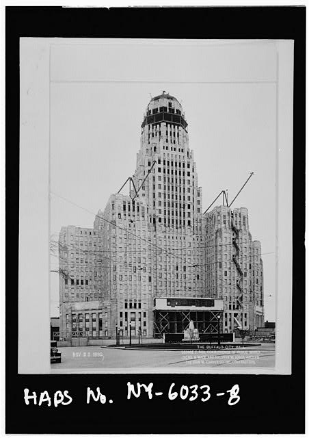 8.  City Hall under construction, most of facing on,Nov. 23,1930 - Buffalo City Hall, 65 Niagara Square, Buffalo, Erie County, NY