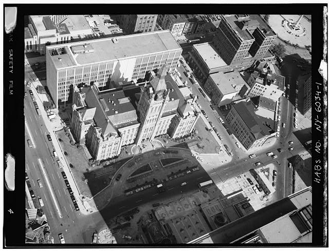 1.  AERIAL VIEW - Erie County Hall, Buffalo, Erie County, NY