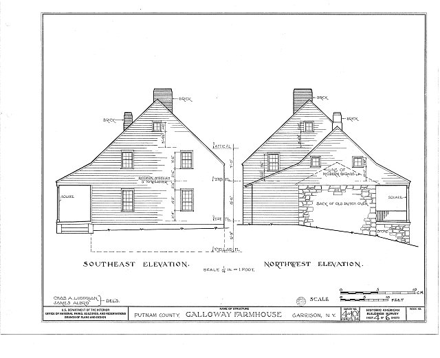 HABS NY,40-GARI,1- (sheet 4 of 6) - Galloway Farmhouse, Manitou Road, Garrison, Putnam County, NY