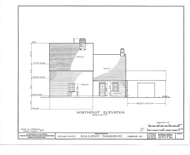 HABS NY,40-GARI,1- (sheet 5 of 6) - Galloway Farmhouse, Manitou Road, Garrison, Putnam County, NY