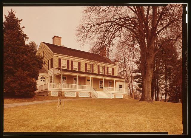 PERSPECTIVE VIEW OF SOUTH ELEVATION  - John Jay House, State Route 22, Katonah, Westchester County, NY