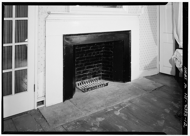 12.  SECOND FLOOR, NORTH ROOM, DETAIL OF FIREPLACE - John Jay House, State Route 22, Katonah, Westchester County, NY