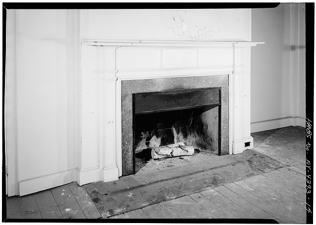 14.  SECOND FLOOR, WEST ROOM, DETAIL OF FIREPLACE - John Jay House, State Route 22, Katonah, Westchester County, NY