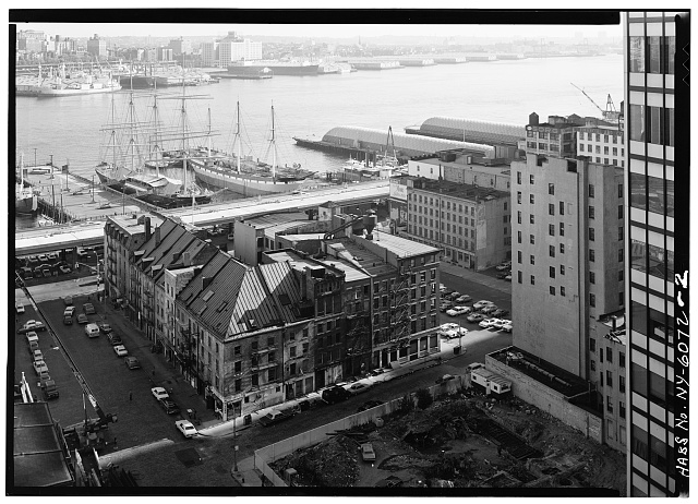 2.  SCHERMERHORN ROW, LOOKING SOUTHEAST - South Street Seaport Museum, Block bounded by John, South, Fulton, & Front Streets, New York, New York County, NY