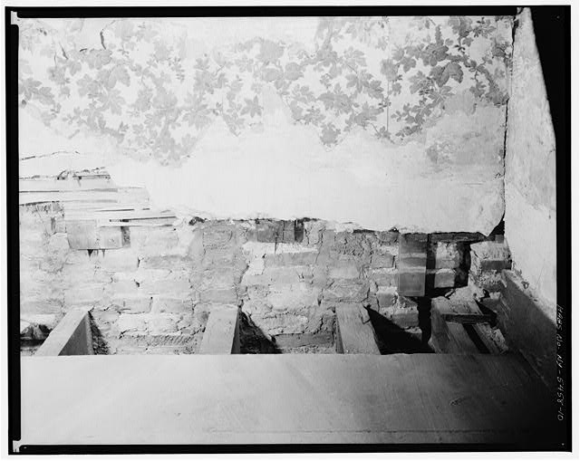 10.  THIRD FLOOR, BEDROOM, DETAIL OF WALL - Jacob Houseman House & Office, 2 Front Street, New York, New York County, NY