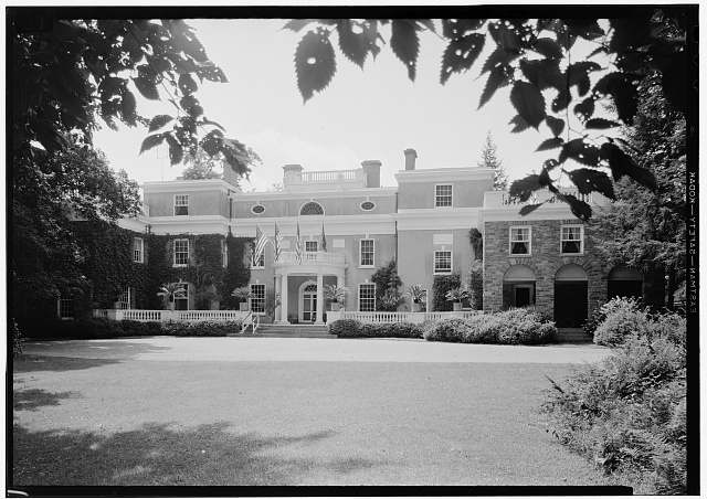 1.  Exterior, Front Oblique Shot July 1941. - Springwood, Hyde Park, Dutchess County, NY
