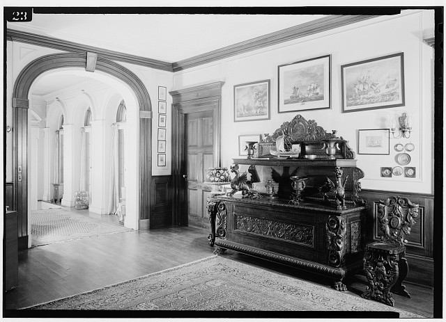 15.  Entrance Hall & Hallway, July 1941. - Springwood, Hyde Park, Dutchess County, NY