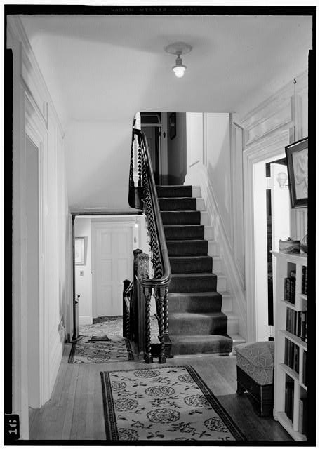 19.  Stairway, 2nd floor, July 1941. - Springwood, Hyde Park, Dutchess County, NY