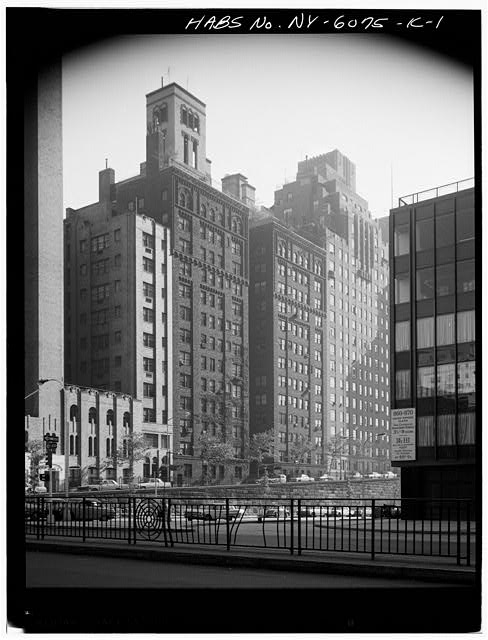 1.  PERSPECTIVE VIEW OF MAIN ELEVATION - Tudor City Complex, Stewart Hall, 310 Mitchell Place, New York, New York County, NY