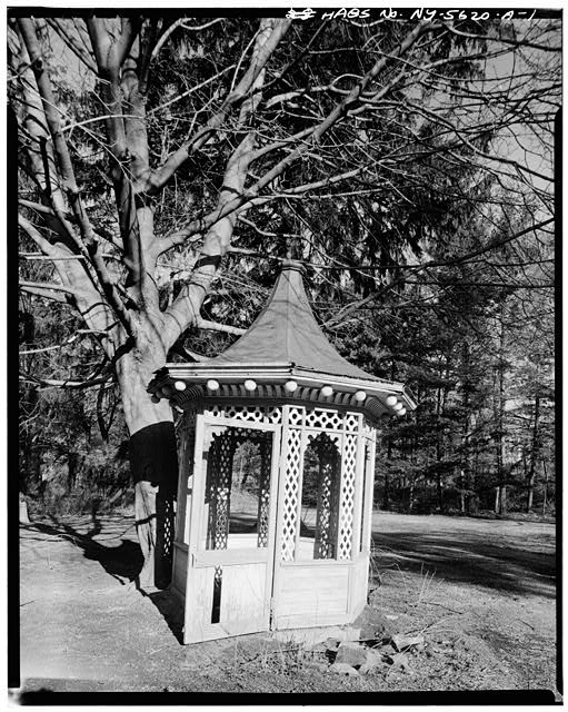 1.  VIEW OF GAZEBO FROM EAST - Armour-Stiner House, Gazebo, Irvington, Westchester County, NY