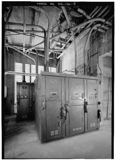9.  NEW YORK LAND VENTILATION BUILDING, 4th FLOOR, DETAIL SHOWING MAIN FEEDER STATION - Holland Tunnel, Beneath Hudson River between New York & Jersey City, New York, New York County, NY