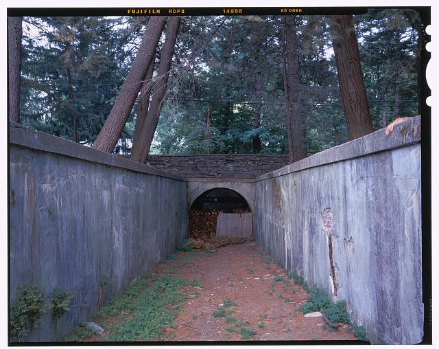 30.  Small tunnel under Route 9, view E. - Vanderbilt Mansion Roads & Bridges, Hyde Park, Dutchess County, NY