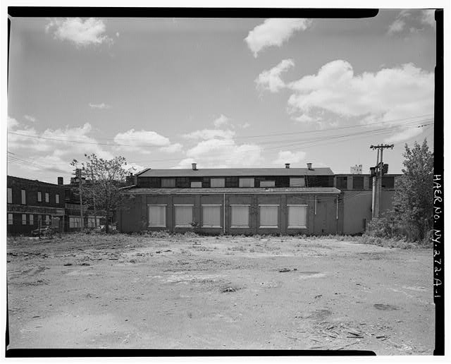 1.  NORTH ELEVATION, VIEW SOUTH - Oldman Boiler Works, Boilershop, 32 Illinois Street, Buffalo, Erie County, NY
