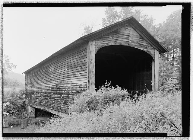 PERSPECTIVE, WEST PORTAL FROM WNW.  - Hyde Hall Bridge, Spanning Shadow Brook, former East Lake Road, East Springfield, Otsego County, NY