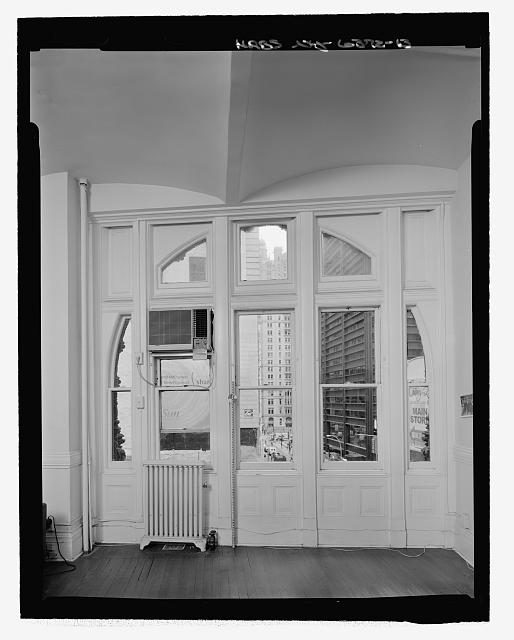 Room 405, South Elevation Window (with measuring stick) - Corbin Building, 11 John Street, New York, New York County, NY