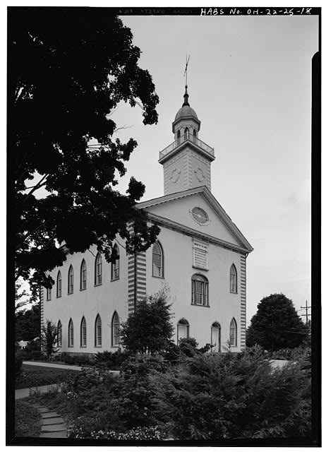 18.  EXTERIOR, EAST FRONT AND SOUTH SIDE - Kirtland Temple (Mormon), 9020 Chillicoth Road, Kirtland, Lake County, OH