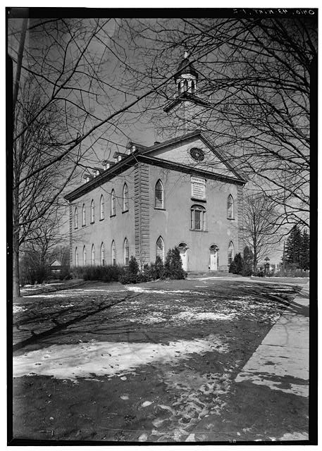 2.  Historic American Buildings Survey, Carl F. Waite, Photographer April, 1934 SOUTHEAST ELEVATION. - Kirtland Temple (Mormon), 9020 Chillicoth Road, Kirtland, Lake County, OH