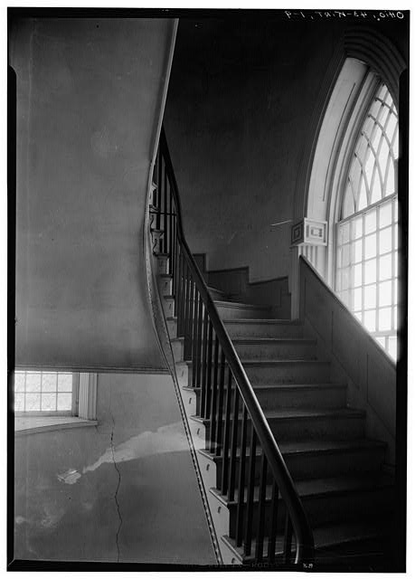 9.  Historic American Buildings Survey, Carl F. Waite, Photographer April, 1934 INTERIOR DETAIL OF STAIRWAY, SOUTH ELEVATION.  - Kirtland Temple (Mormon), 9020 Chillicoth Road, Kirtland, Lake County, OH