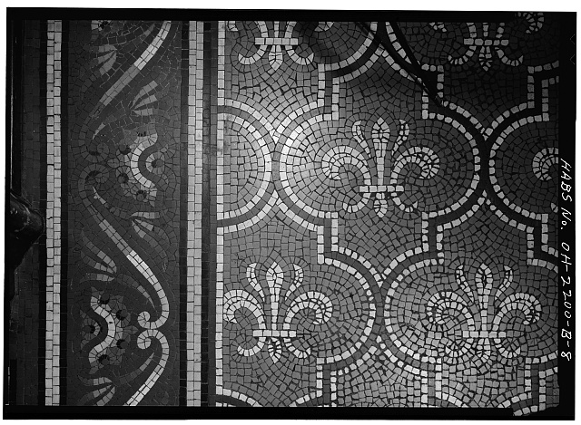 6.  MOSAIC FLOOR OF HALL - Skaats-Hauck House, 812 Dayton Street, Cincinnati, Hamilton County, OH