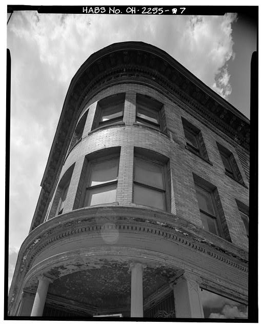 7.  ELEVATION, CORNER DETAIL, UPPER FLOORS - Wheeler Block, 402 Monroe Street & 109-111 Saint Clair Street, Toledo, Lucas County, OH
