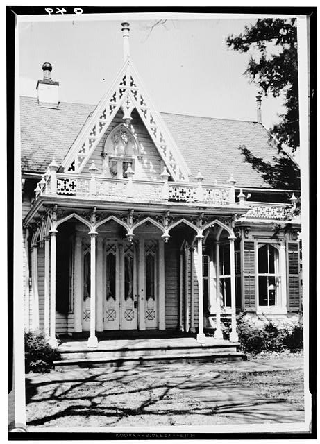 2.  Historic American Buildings Survey, Perry E. Borchers, Photographer, 1951 SOUTH ELEVATION OF ENTRANCE PORCH. - Kenyon College, Peter Neff Cottage, Wiggin Street, Gambier, Knox County, OH