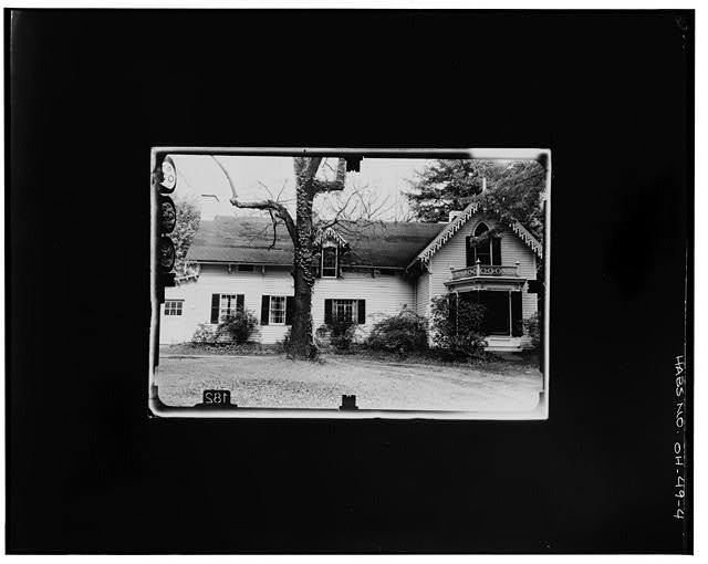 4.  WEST ELEVATION Copy photograph of photogrammetric plate LC-HABS-GS07-T-935-601L. - Kenyon College, Peter Neff Cottage, Wiggin Street, Gambier, Knox County, OH