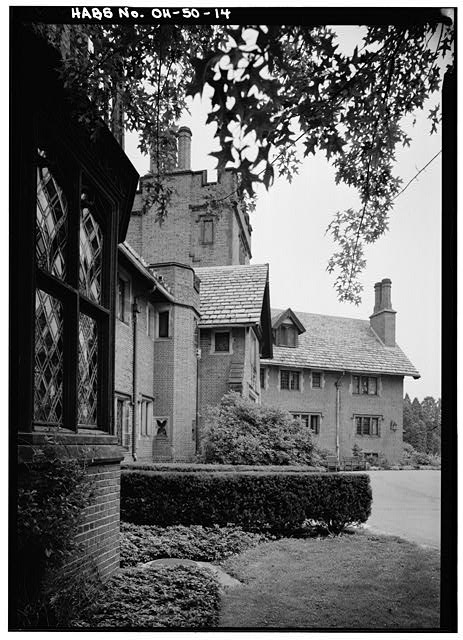 14.  VIEW ALONG EAST FRONT, FROM SOUTH - Stan Hywet Hall, 714 North Portage Path, Akron, Summit County, OH