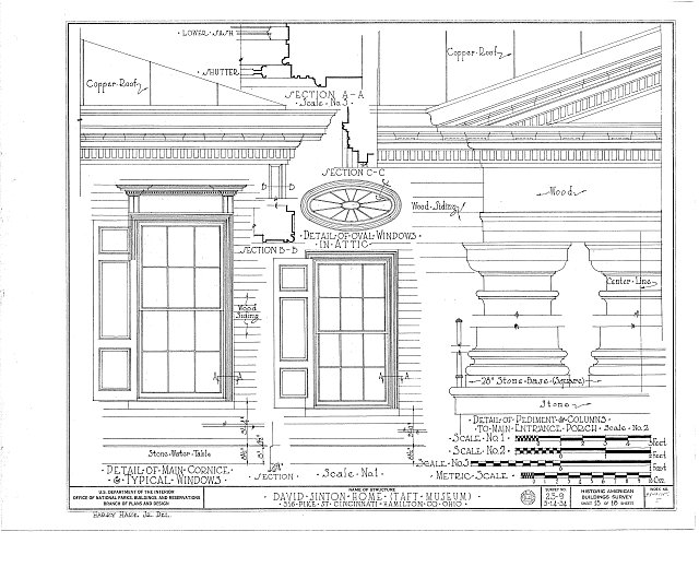HABS OHIO,31-CINT,5- (sheet 15 of 18) - David Sinton House, 316 Pike Street, Cincinnati, Hamilton County, OH