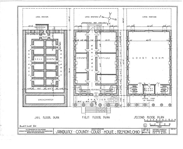 HABS OHIO,72-FREMO,1- (sheet 1 of 6) - Sandusky County Courthouse, South Park Street, Fremont, Sandusky County, OH