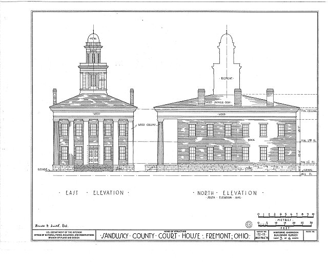 HABS OHIO,72-FREMO,1- (sheet 3 of 6) - Sandusky County Courthouse, South Park Street, Fremont, Sandusky County, OH