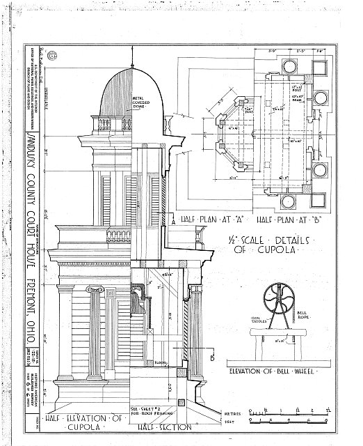 HABS OHIO,72-FREMO,1- (sheet 6 of 6) - Sandusky County Courthouse, South Park Street, Fremont, Sandusky County, OH
